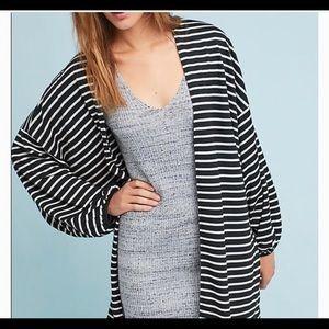 Anthropologie Roffe Striped One Size Kimono